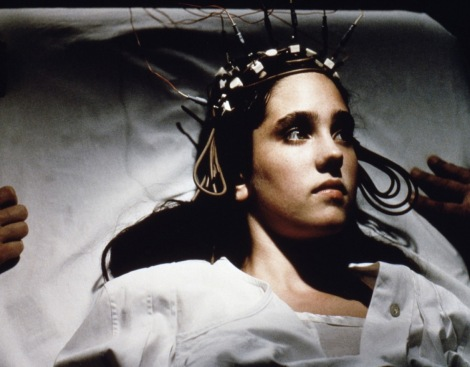 Jenifer Connelly undergoing treatment for her sleepwalking in the strange Phenomena