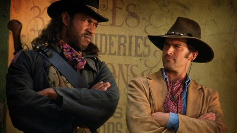 Bruce Campbell and Julius Carry in the greatest TV show of all time...