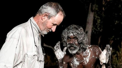 Rolf De Heer and David Gulpilil on set of Charlie's Country (2013)