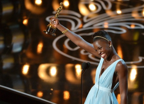 Winning hearts the world over Nyong'o displayed true grace in accepting her Best Supporting Actress award