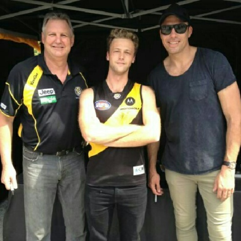 With 2 sporting legends, including Matthew Richardson on the right. Go Tiges