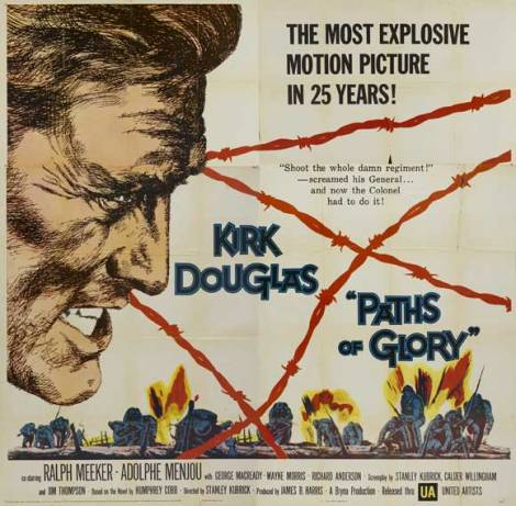 paths of glory poster