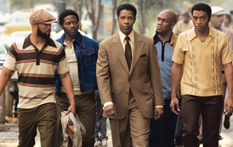 Denzel and his entourage in the 2007 hit American Gangster