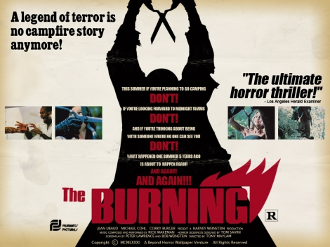 the burning movie poster 1981