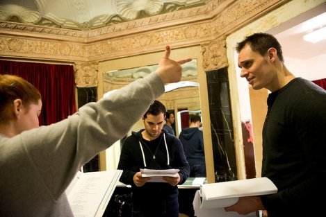 Actor Keith Collins at work in last years Jersey Devil