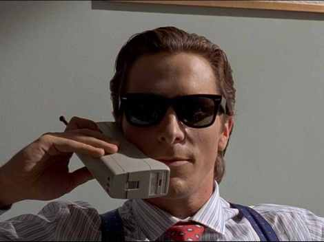 One seriously cool cat as Patrick Bateman in American Psycho