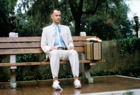 Who could forget this iconic image of Tom Hanks Forrest Gump?