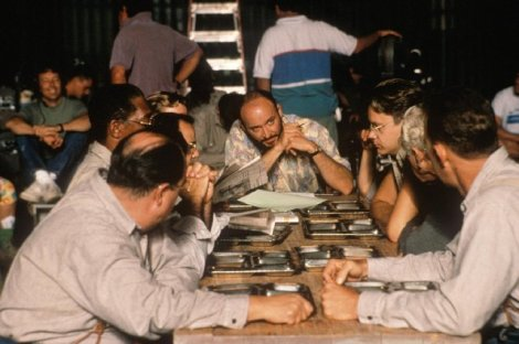 At work on The Shawshank Redemption - Darabont and his cast created a genuine cinema classic