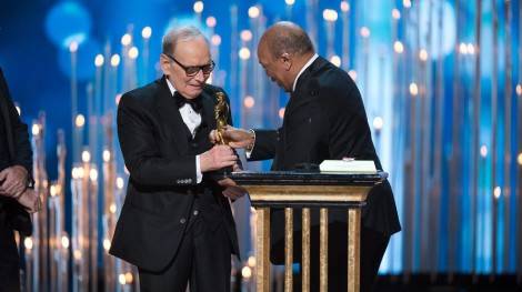 Morricone accepts his award in what was one of the nights nicest moments