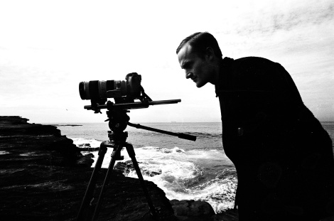 Sims-Dennett hard at work capturing one of Observance's rare outside shots