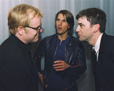 Philip Seymour Hoffman, Tom Cruise & Paul Thomas Anderson at Magnolia Premiere