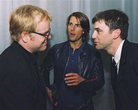 Philip Seymour Hoffman, Tom Cruise & Paul Thomas Anderson at Magnolia Premiere