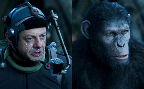 Andy Serkis brings an ape to life using motion capture technology