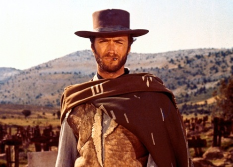 Eastwood in one of cinemas most famous images