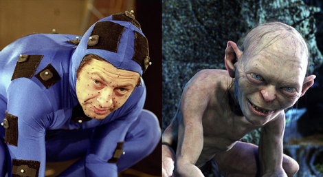 Andy Serkis working on his famous incarnation of Gollum in The Lord of the Rings