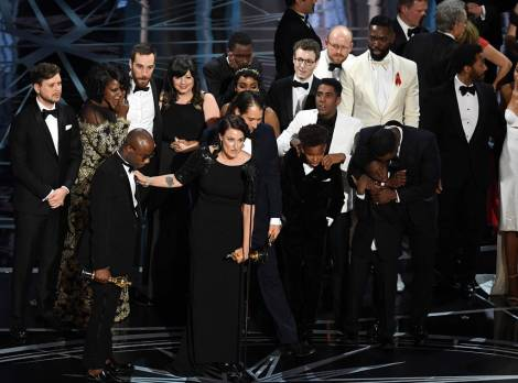 The Moonlight cast and crew celebrate their unforgettable Best Picture win